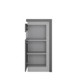 Lyon Narrow display cabinet (LHD) 123.6cm high (including LED lighting) - Alidasa