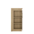 Lyon Narrow display cabinet (RHD) 123.6cm high (including LED lighting) - Alidasa