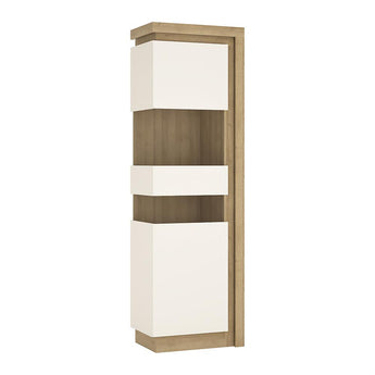 Lyon Tall narrow display cabinet (LHD) (including LED lighting) - Alidasa