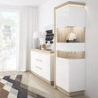 Lyon Tall narrow display cabinet (RHD) (including LED lighting) - Alidasa