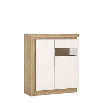 Lyon 2 door designer cabinet (RH) (including LED lighting) - Alidasa