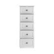 Hampshire 5 drawer narrow chest - Alidasa