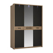 Monaco 3 door wardrobe with mirror door - Alidasa