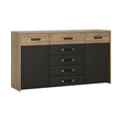 Monaco 2 door 5 drawer wide cupboard - Alidasa