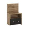 Monaco 1 drawer bedside with open shelf (LH) - Alidasa