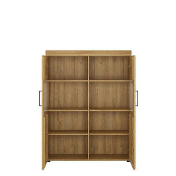 Cortina Low wide 2 door display cabinet - Alidasa