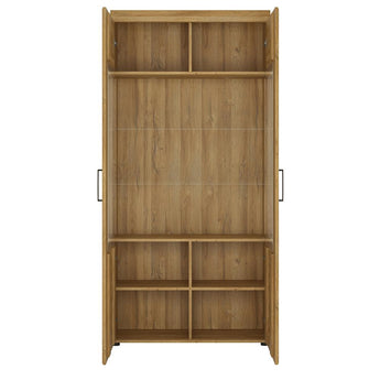 Cortina Tall wide 2 door glazed display cabinet alidasa.myshopify.com