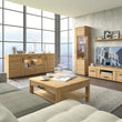 Cortina 4 door wide glazed sideboard - Alidasa