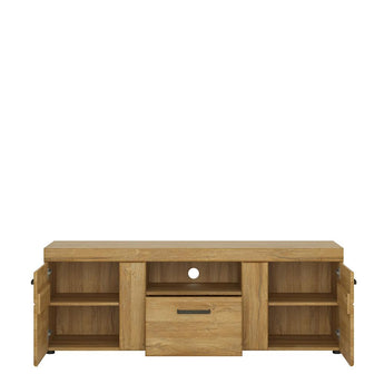 Cortina 2 door 1 drawer tall TV cabinet alidasa.myshopify.com
