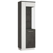 Zingaro Tall Glazed display cabinet (RH) - Alidasa