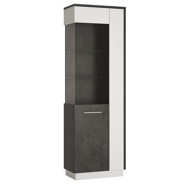 Zingaro Tall Glazed display cabinet (LH) - Alidasa