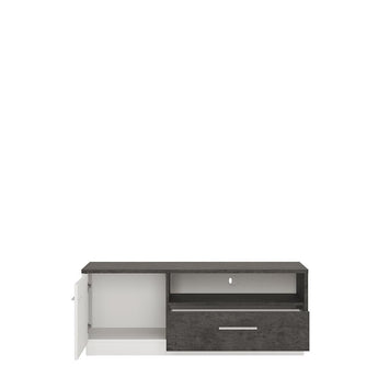 Zingaro 1 door 1 drawer TV cabinet - Alidasa