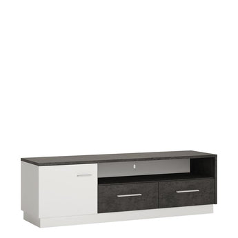 Zingaro 1 door 2 drawer wide TV cabinet - Alidasa