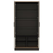 Brolo Tall wide glazed display cabinet - Alidasa