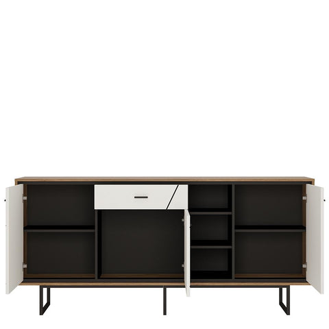 Brolo 3 door 1 drawer wide sideboard - Alidasa
