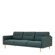 Larvik  Larvik 3 Seater Sofa - Dark Green, Oak Legs - Alidasa