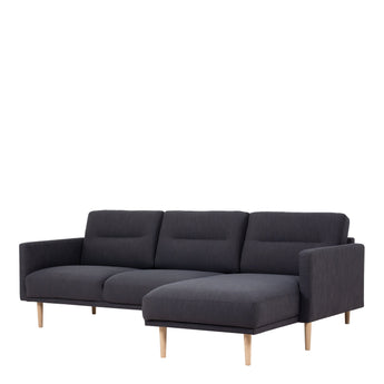 Larvik  Larvik Chaiselongue Sofa (RH) - Antracit, Oak Legs - Alidasa