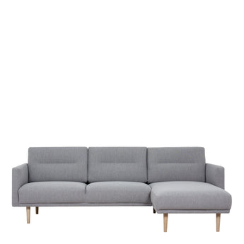 Larvik  Larvik Chaiselongue Sofa (RH) - Grey, Oak Legs - Alidasa