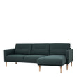 Larvik  Larvik Chaiselongue Sofa (RH) - Dark Green, Oak Legs - Alidasa