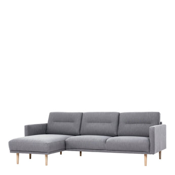 Larvik  Larvik Chaiselongue Sofa  (LH) - Grey, Oak Legs - Alidasa
