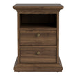 Paris Bedside 2 Drawers in Walnut - Alidasa