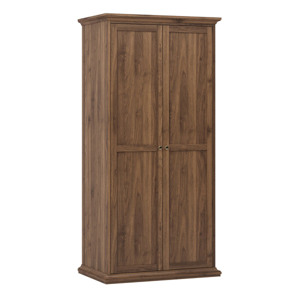 Paris Wardrobe with 2 Doors in Walnut - Alidasa