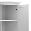 Paris Wardrobe with 4 Doors in White - Alidasa