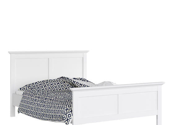 Paris Double Bed (140 x 200) in White - Alidasa