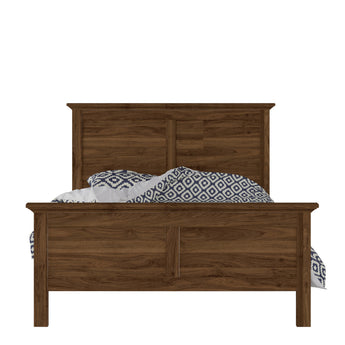 Paris Double Bed (140 x 200) in Walnut - Alidasa
