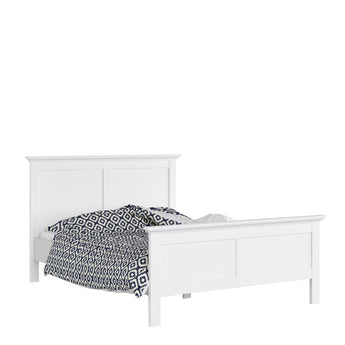 Paris King Bed (160 x 200) in White - Alidasa