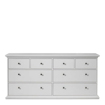 Paris Chest of 8 Drawers in White - Alidasa
