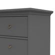 Paris Chest of 8 Drawers in Matt Grey - Alidasa