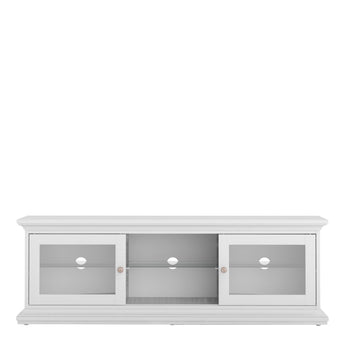 Paris TV Unit - Wide - 2 Doors 1 Shelf in White - Alidasa