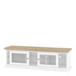 Paris TV Unit - Wide - 2 Doors 1 Shelf in White and Oak - Alidasa