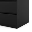 Naia Chest of 5 Drawers in Black Matt - Alidasa
