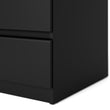 Naia Narrow Chest of 5 Drawers in Black Matt - Alidasa