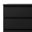 Naia Chest of 3 Drawers in Black Matt - Alidasa