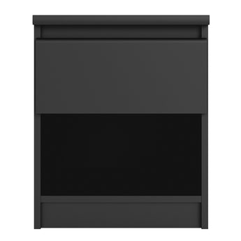 Naia Bedside - 1 Drawer 1 Shelf in Black Matt - Alidasa