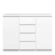 Naia Sideboard - 4 Drawers 2 Doors in White High Gloss - Alidasa