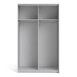 Verona Sliding Wardrobe 120cm in White with White Doors with 2 Shelves - Alidasa