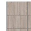 Verona Sliding Wardrobe 120cm in White with Truffle Oak Doors with 5 Shelves - Alidasa