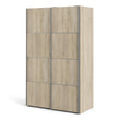 Verona Sliding Wardrobe 120cm in Oak with Oak Doors with 2 Shelves - Alidasa