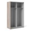 Verona Sliding Wardrobe 120cm in Truffle Oak with Truffle Oak Doors with 2 Shelves - Alidasa