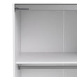Verona Sliding Wardrobe 180cm in White with Mirror Doors with 5 Shelves - Alidasa