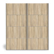 Verona Sliding Wardrobe 180cm in Oak with Oak Doors with 5 Shelves - Alidasa