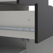 Oslo Bookcase 2 Drawers 1 Door in White and Black Matt - Alidasa