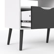 Oslo TV Unit 2 Drawers in White and Black Matt - Alidasa