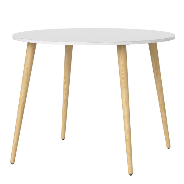 Oslo Dining Table - Small (100cm) in White and Oak - Alidasa