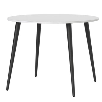 Oslo Dining Table - Small (100cm) in White and Black Matt - Alidasa