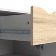 Oslo Sideboard - Small - 1 Drawer 2 Doors in White and Oak - Alidasa